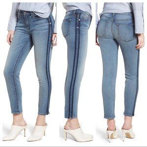 7FAM Roxanne Shadow Stripe Skinny Ankle Jeans